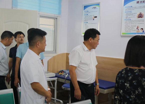 河南省市领导莅临参观三门闸医院智能健康管理中心